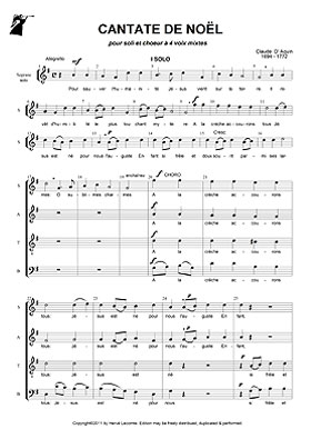 Partition Ch��ur - Partitions gratuites de chant choral, SATB, MP3.
